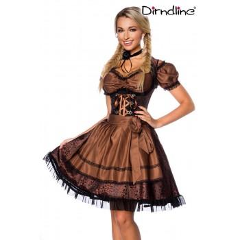 Premium Dirndl & Bluse braun schwarz von Dirndline