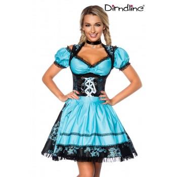 Premium Dirndl & Bluse blau schwarz von Dirndline