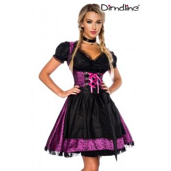 Premium Dirndl & Bluse lila schwarz von Dirndline