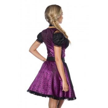 Premium Dirndl & Bluse lila schwarz von Dirndline XS S M L XL 2XL 3XL
