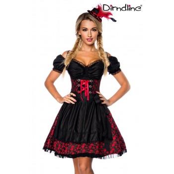 Premium Dirndl & Bluse rot schwarz von Dirndline