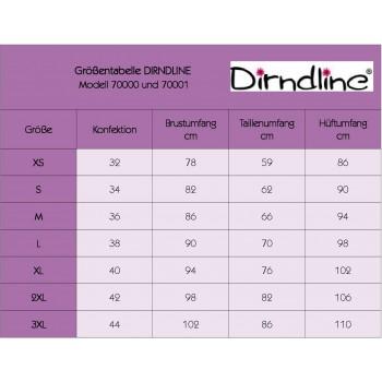 Premium Bluse & Dirndl aus edlem Denim hellblau Blumen XS bis 3XL
