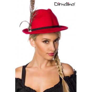 Traditioneller Trachtenhut rot mit Federn von Dirndline